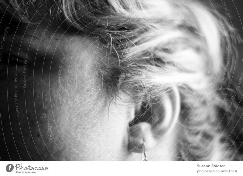 ich höre was, was du nicht siehst feminin Junge Frau Jugendliche Haut Kopf Haare & Frisuren Gesicht Ohr 18-30 Jahre Erwachsene Accessoire Schmuck blond