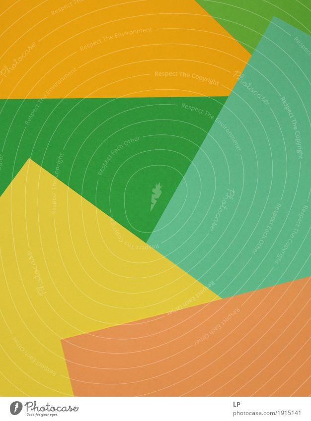 Abstrakter Hintergrund / farbige Strukturen 1 grün Freude gelb Leben Gefühle Lifestyle Stil Kunst orange Design Linie Freizeit & Hobby Zufriedenheit