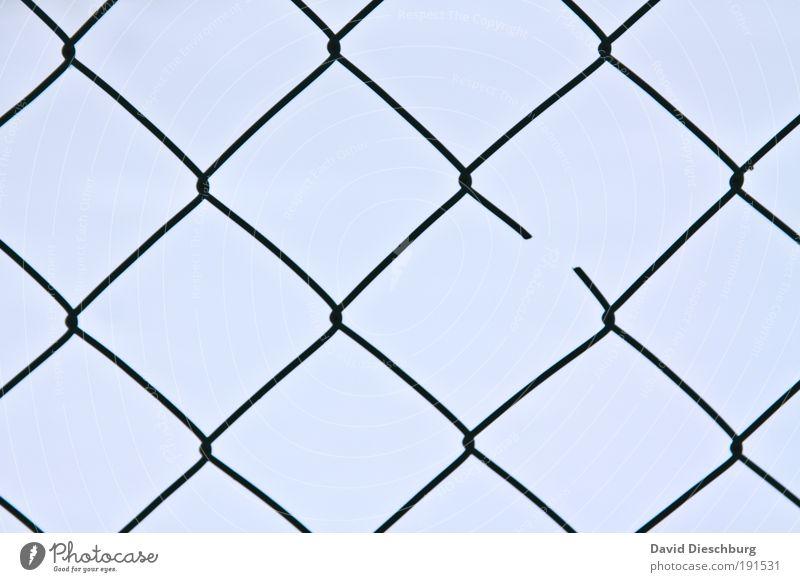 Broken blau Linie Hintergrundbild kaputt Netzwerk Barriere Zaun Verbindung Quadrat gebrochen Zerstörung Vernetzung Symmetrie Geometrie Verbundenheit