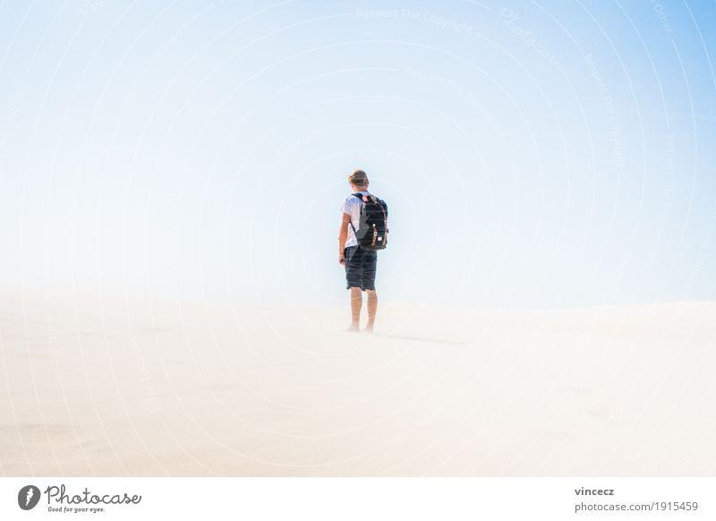 Into the Sun Mensch Ferien & Urlaub & Reisen Jugendliche Sommer Sonne Junger Mann Einsamkeit Ferne Strand 18-30 Jahre Erwachsene Wärme Freiheit Sand maskulin