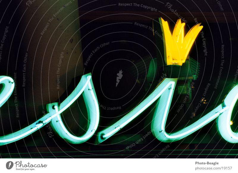Si! grün gelb Werbung historisch Kino Krone Leuchtreklame Fünfziger Jahre grün-gelb