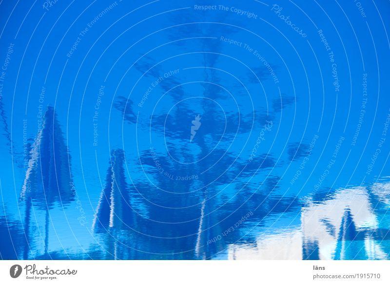 Reflektionen Himmel Ferien & Urlaub & Reisen blau Sommer Sonne Erholung Schwimmen & Baden Tourismus Zufriedenheit Ausflug Schwimmbad Gelassenheit Sommerurlaub