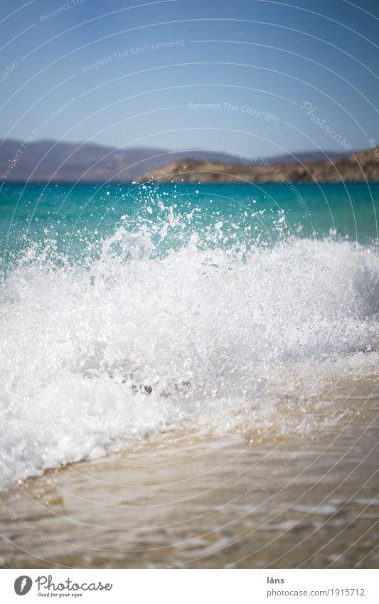 Seegang Ferien & Urlaub & Reisen Tourismus Ausflug Sommer Sommerurlaub Sonne Strand Meer Insel Wellen Umwelt Natur Urelemente Luft Wasser Wassertropfen Himmel