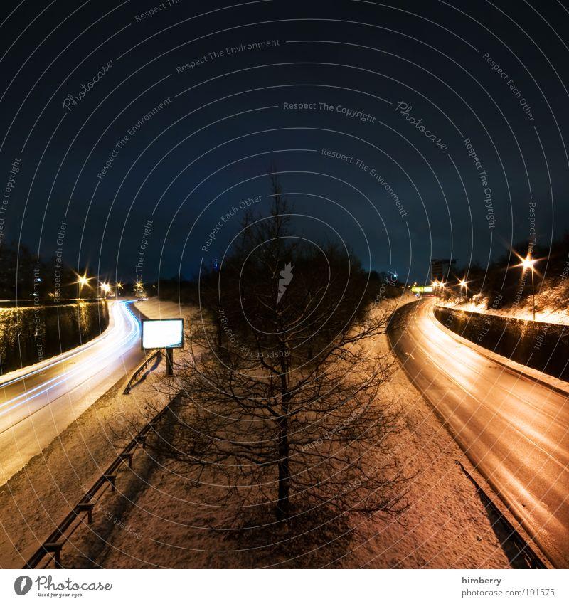 split ways Winter Straße Schnee Wege & Pfade Eis Straßenverkehr Wetter Umwelt Verkehr Geschwindigkeit Energiewirtschaft Frost Güterverkehr & Logistik Klima
