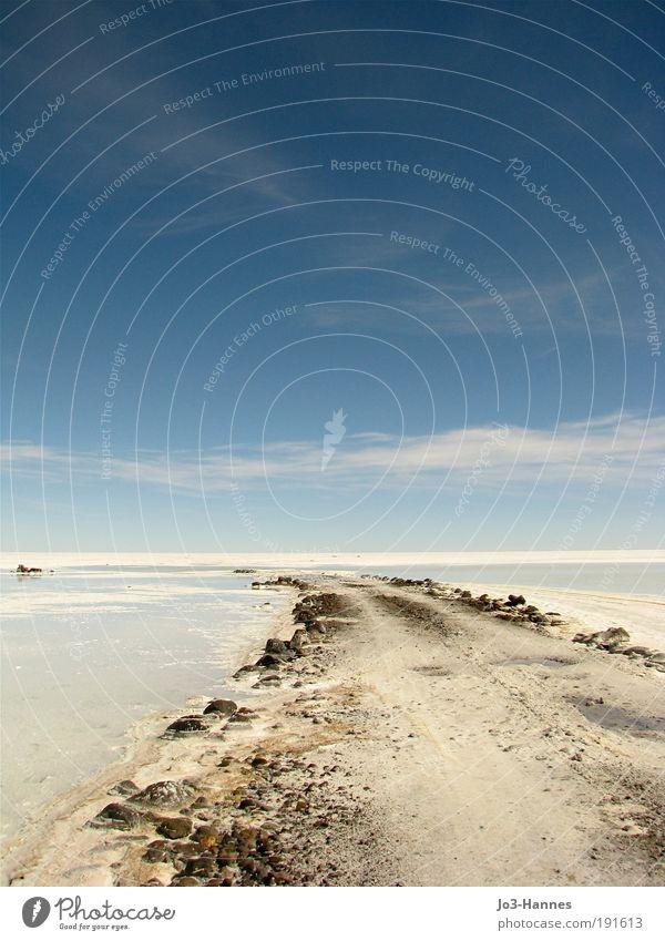 Titel gesucht Himmel Natur weiß blau Ferne Schnee Landschaft Luft groß frei Perspektive Hoffnung einzigartig Wüste Unendlichkeit Schönes Wetter