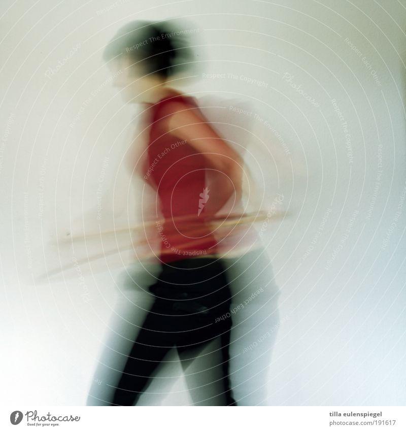 zappelphilipp Frau Mensch Freude Erwachsene feminin Leben Sport Bewegung Gesundheit Körper Kraft Bewegungsunschärfe Geschwindigkeit drehen Lebensfreude