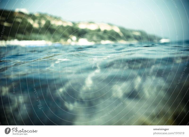 meer blau Ferien & Urlaub & Reisen Meer Strand Erholung Wärme Küste Wellen Freizeit & Hobby Perspektive Schwimmbad Schönes Wetter Wasser Sehnsucht entdecken