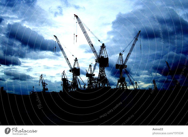 krähnentanz Tourismus Ferne Wirtschaft Industrie Handel Güterverkehr & Logistik Handwerk Baustelle Landschaft Wolken Nachthimmel Wind Hafenstadt Skyline