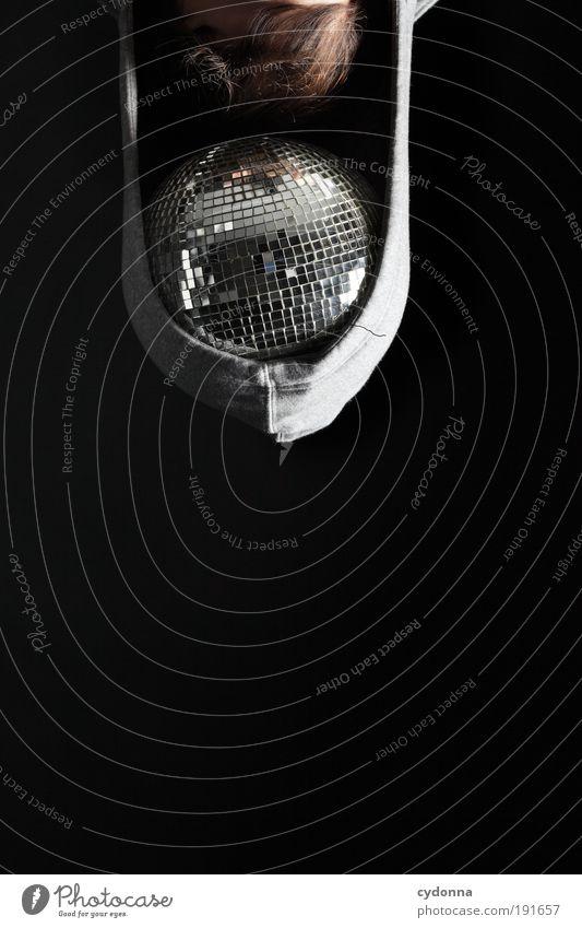 Musik im Kopf Mensch Freude Freiheit Kopf Haare & Frisuren Stil Party träumen Tanzen Zeit Design Lifestyle einzigartig Bar Feste & Feiern Disco