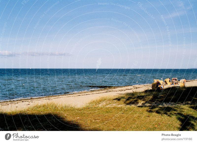 Strandkorb-Idylle_01 Meer Ferien & Urlaub & Reisen Europa Ostsee Wasser Sand sea seaside ocean wave waves beach chair beach chairs holiday holidays vacation