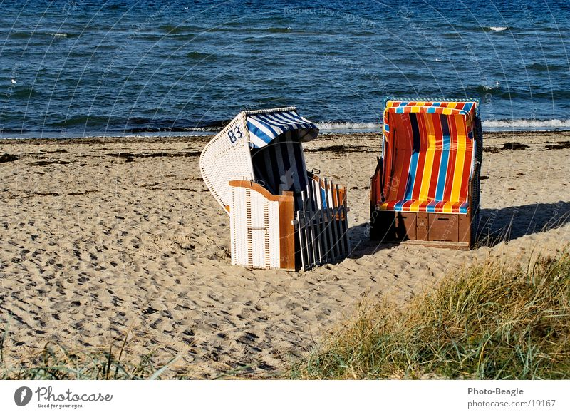 Strandkorb-Idylle_02 Meer Ferien & Urlaub & Reisen Europa Ostsee Wasser Sand sea seaside ocean wave waves beach chair beach chairs holiday holidays vacation