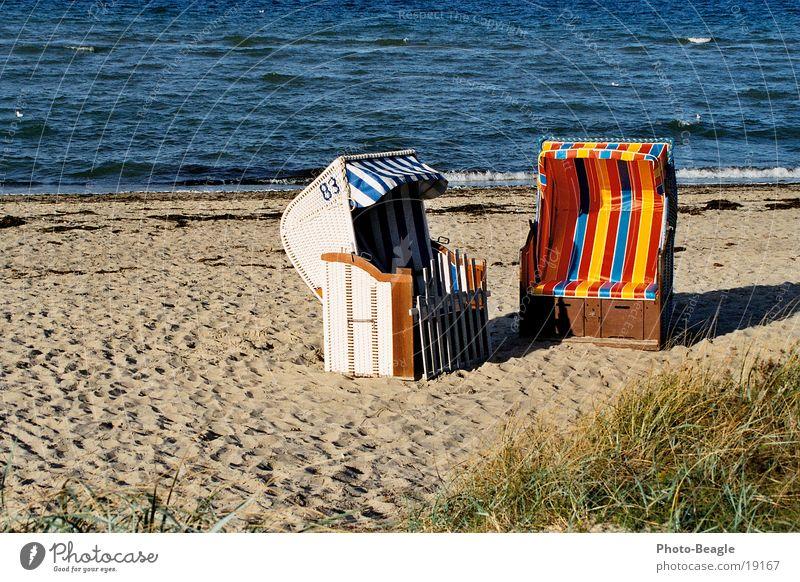 Strandkorb-Idylle_02 Wasser Meer Strand Ferien & Urlaub & Reisen Sand Europa Idylle Ostsee Strandkorb