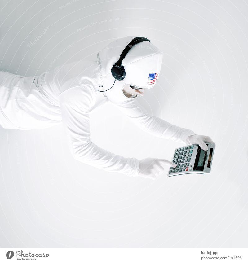 10 seconds to mars Mensch Mann Hand Erwachsene Kopf Computer fliegen Arme maskulin Zukunft Finger Wissenschaftler Technik & Technologie Weltall Wissenschaften