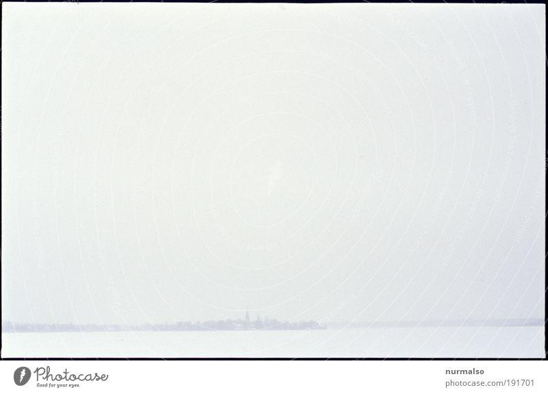 wenig Kunst Umwelt Natur Landschaft Pflanze Tier Horizont Klima Wetter Nebel Eis Frost Schnee Küste Flussufer Insel Havel Werder Havel Kleinstadt Skyline