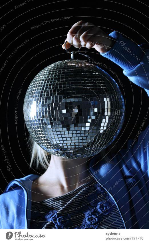 Disco Version Mensch Freude Gesicht Erwachsene Gefühle Kopf Party Stil Musik Zeit Tanzen Design ästhetisch Lifestyle einzigartig festhalten