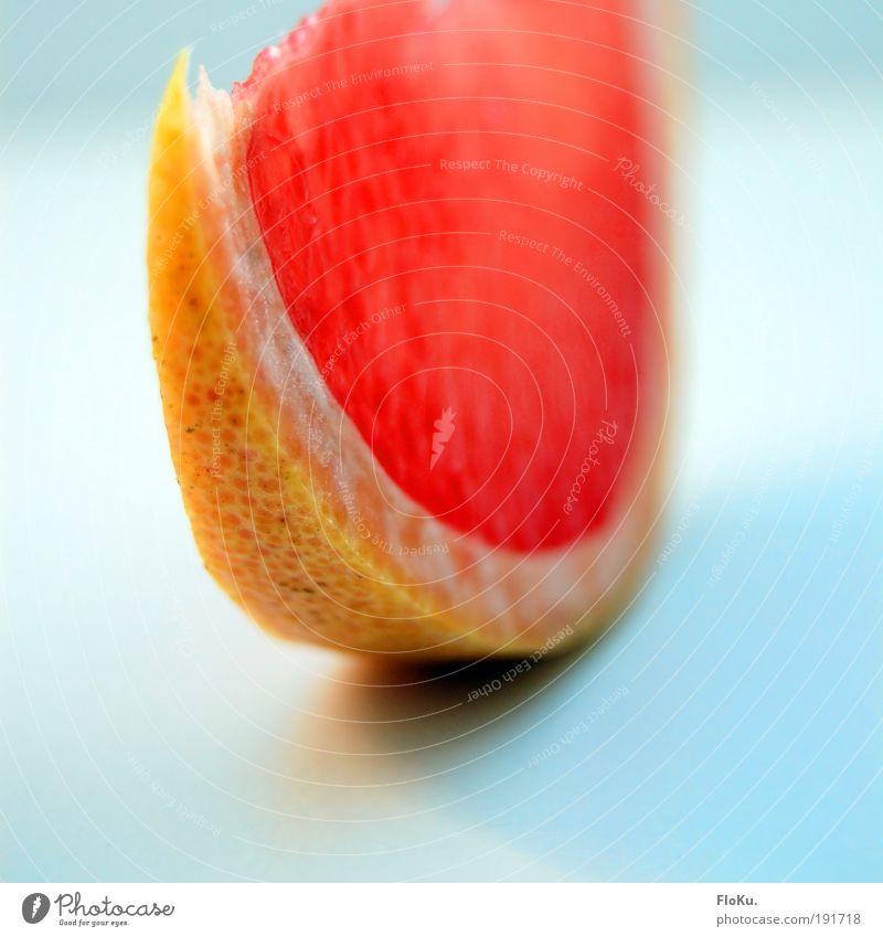 Just a Slice Lebensmittel Frucht Ernährung Bioprodukte Vegetarische Ernährung Diät dünn lecker süß blau gelb rosa rot Gesundheit Grapefruit sauer Zitrusfrüchte