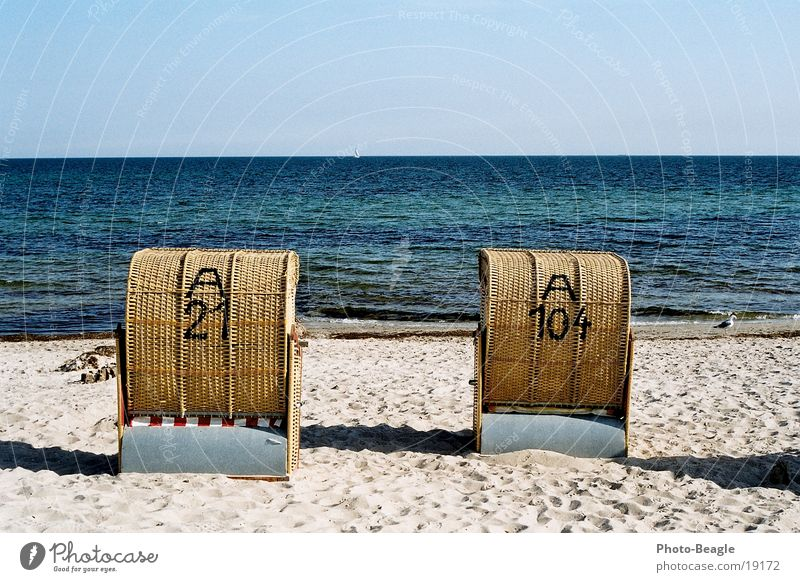 Urlaub-04 See Meer Strand Strandkorb Europa Ostsee Wasser sea seaside ocean wave waves beach chair beach chairs holiday holidays vacation