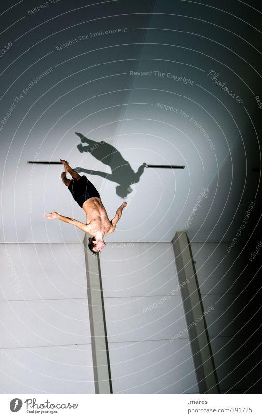 Abwärts Jugendliche Sport Leben springen Stil Bewegung Körper maskulin elegant fliegen frei Lifestyle Coolness Mensch Freizeit & Hobby fallen