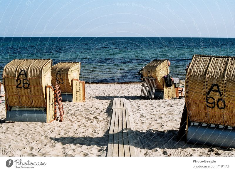 Urlaub-05 See Meer Strand Strandkorb Europa Ostsee Wasser sea seaside ocean wave waves beach chair beach chairs holiday holidays vacation