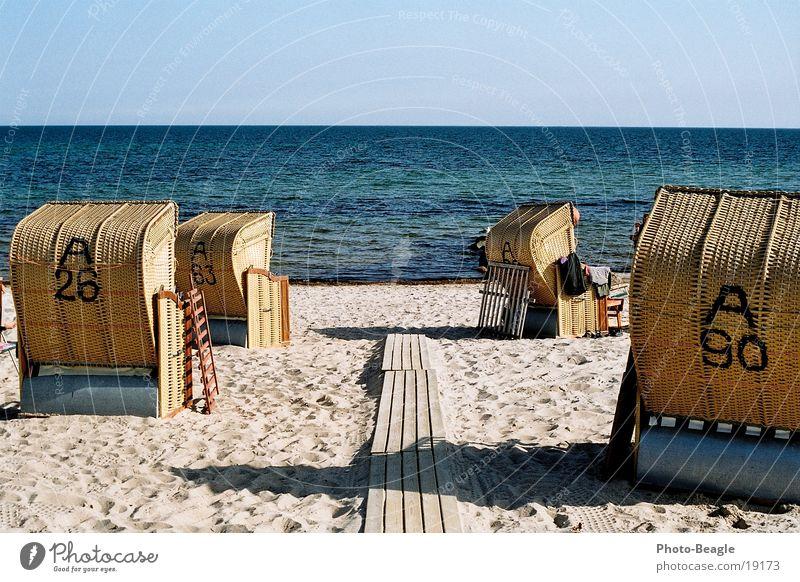 Urlaub-05 See Meer Strand Strandkorb Europa Ostsee Wasser sea seaside ocean wave waves beach chair beach chairs holiday holidays vacation