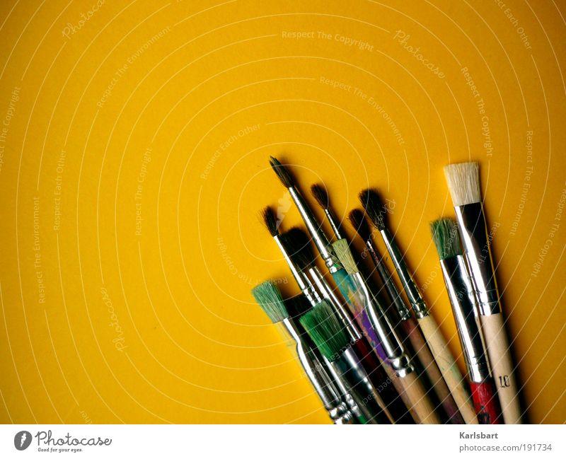 brushes. Freude Erholung Glück Kindheit Freizeit & Hobby Wohnung Design ästhetisch Fröhlichkeit Lifestyle Häusliches Leben Kultur Bildung malen Kreativität