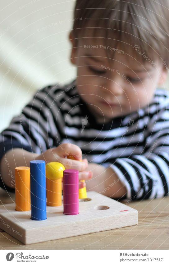 Spielzeit Freude Glück Freizeit & Hobby Spielen Mensch maskulin Kind Kleinkind Junge 1 1-3 Jahre Spielzeug Holz gebrauchen festhalten authentisch Erfolg klein