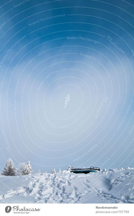 Wegfahrsperre in Weiß Natur Ferien & Urlaub & Reisen Baum Winter Schnee PKW Klima außergewöhnlich Freizeit & Hobby Tourismus Verkehr Ausflug Urelemente
