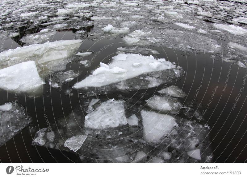 Eis Natur Wasser Winter kalt Schnee Umwelt Landschaft Klima Frost Fluss gefroren Im Wasser treiben Klimawandel Spree Europa