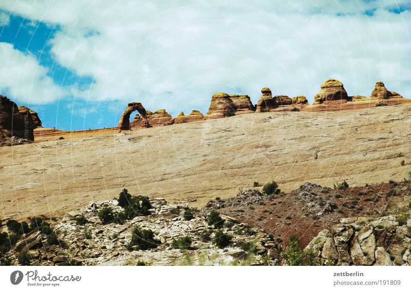 Amerika Amerikaner Nationalpark Schlucht Grand Canyon Felsen Stein Wüste Ferne Himmel Ferien & Urlaub & Reisen Reisefotografie Wege & Pfade Fußweg Pfadfinder