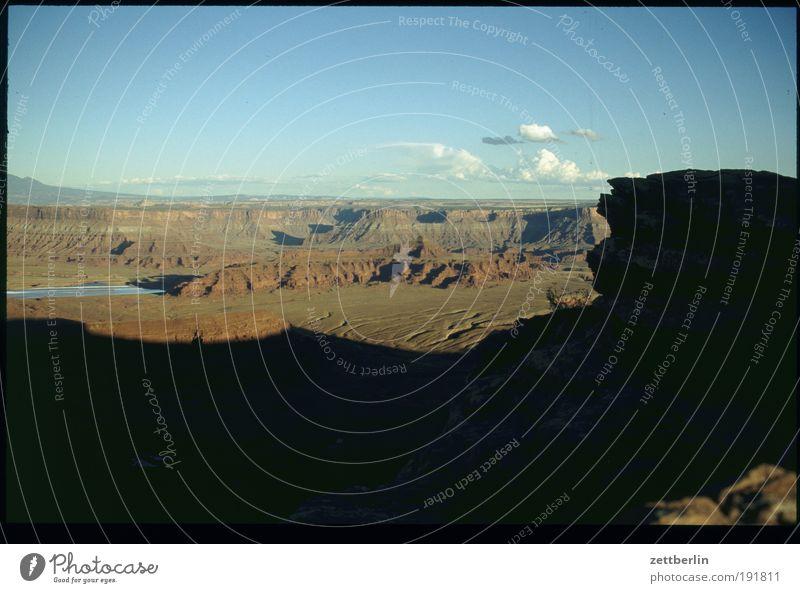 Amerika Natur Himmel Ferien & Urlaub & Reisen Ferne Stein Wege & Pfade Felsen USA Reisefotografie Wüste Fußweg Schlucht Nationalpark Amerikaner Pfadfinder