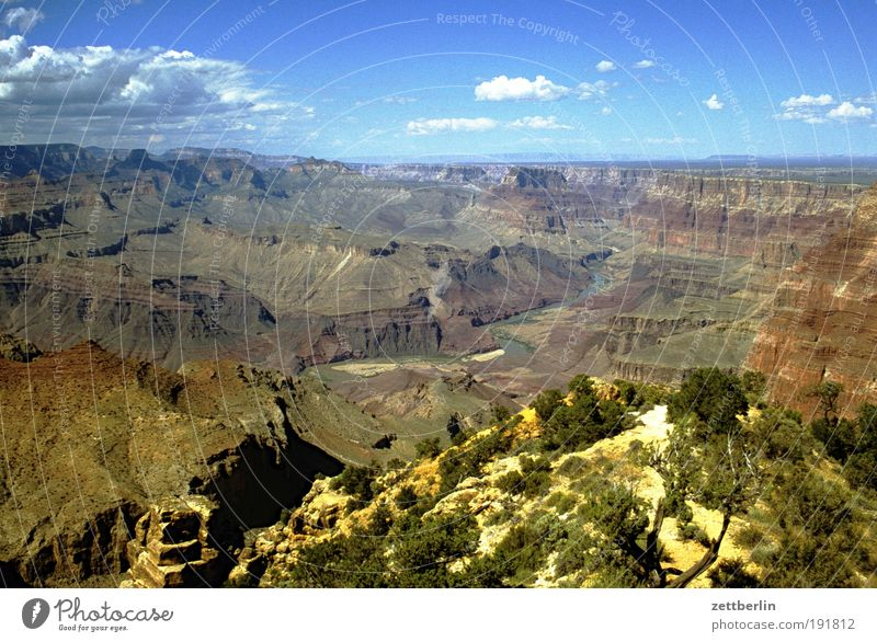 Amerika Natur Himmel Ferien & Urlaub & Reisen Ferne Stein Wege & Pfade Felsen USA Reisefotografie Wüste Berge u. Gebirge Fußweg Schlucht Örtlichkeit