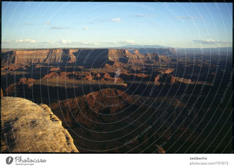 Amerika Himmel Natur Ferien & Urlaub & Reisen Ferne Stein Wege & Pfade Felsen USA Wüste Reisefotografie Fußweg Schlucht Nationalpark Amerikaner Pfadfinder