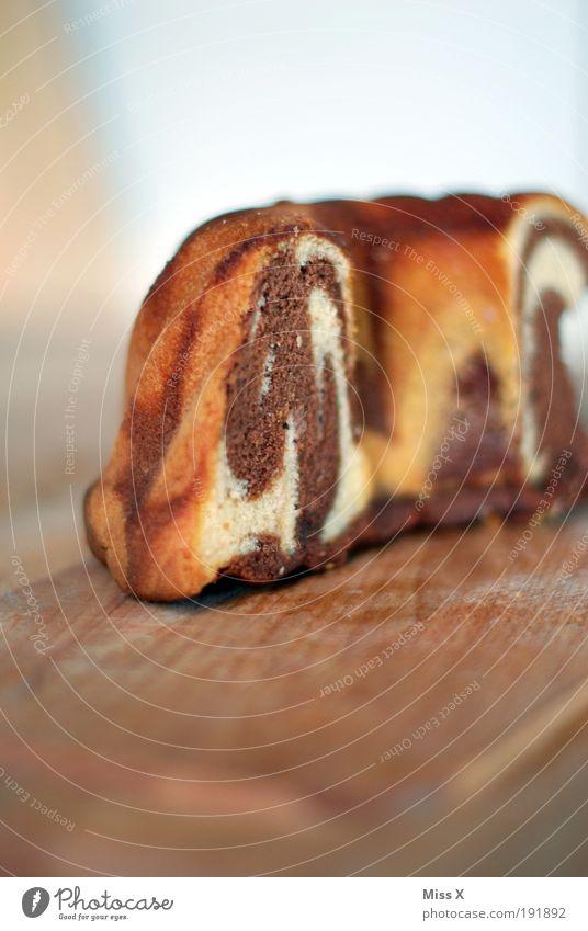 Hätt ich dich heut erwartet hätt ich .... Ernährung Lebensmittel süß Kuchen lecker trocken Backwaren Anschnitt Bildausschnitt Teigwaren selbstgemacht Geschmackssinn Marmorkuchen