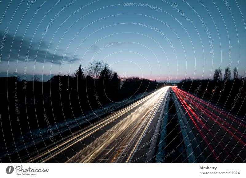 datenautobahn Himmel Winter Wolken Straße Wege & Pfade Landschaft Straßenverkehr Verkehr Geschwindigkeit Energiewirtschaft Netzwerk Zukunft
