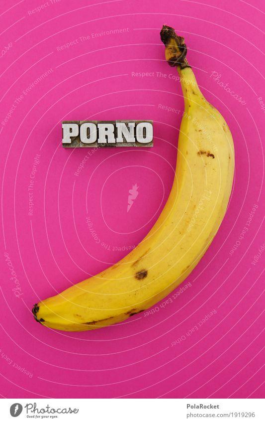 #AS# Mutti geht heute früher schlafen gelb Kunst außergewöhnlich Design rosa Frucht ästhetisch Mutter Sehenswürdigkeit Kunstwerk Sexualität gestalten Banane