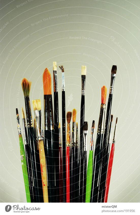 Teamgeist. Kunst Design modern ästhetisch viele malen Kreativität Gemälde Idee Museum Zusammenhalt Teamwork Surrealismus Inspiration Pinsel Printmedien