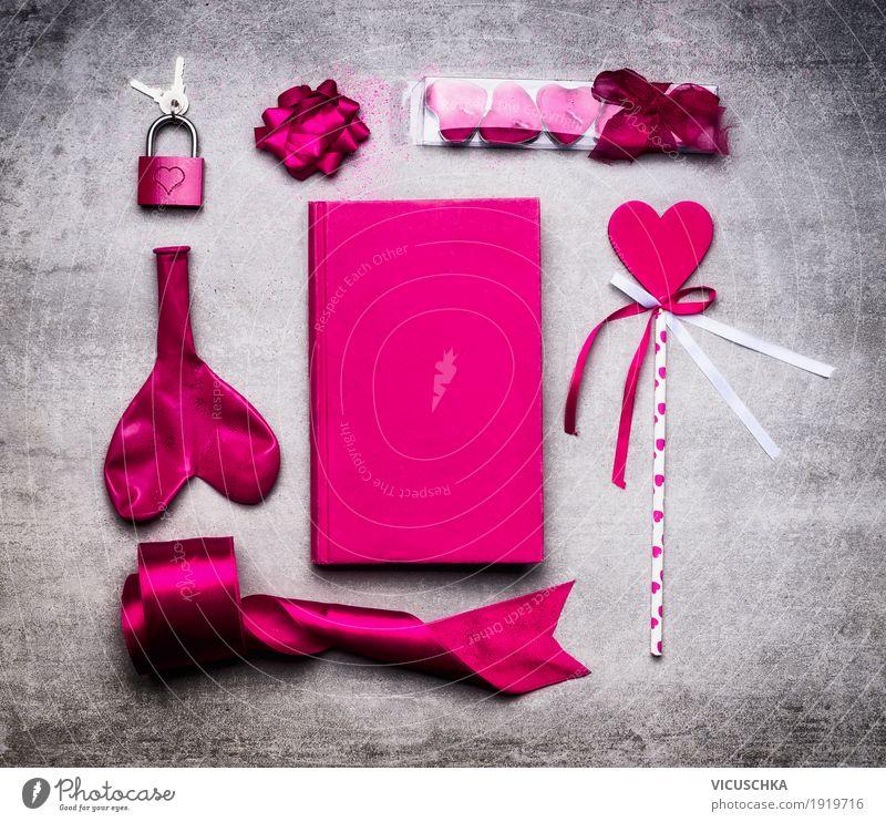 Pink Valentinstag Dekoration Innenarchitektur Gefühle Liebe Stil Feste & Feiern Design rosa Dekoration & Verzierung elegant Herz Zeichen Symbole & Metaphern
