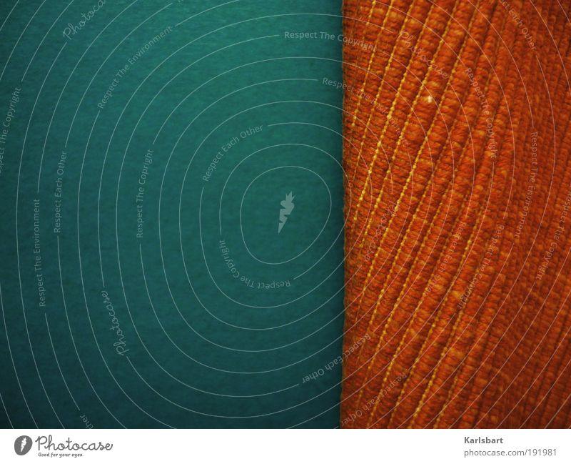 complementary. lines. blau Bewegung Stil Linie orange Freizeit & Hobby Hintergrundbild Design Papier Innenarchitektur Lifestyle Häusliches Leben Streifen Stoff