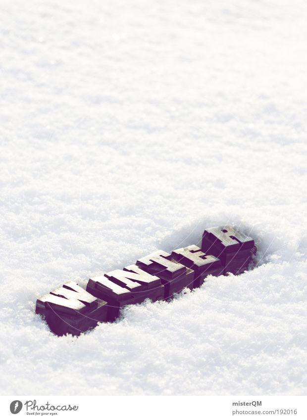 Cold days. weiß Winter kalt Wetter Schilder & Markierungen ästhetisch Frost Buchstaben Schlagwort gefroren Jahreszeiten Symbole & Metaphern Typographie Wort
