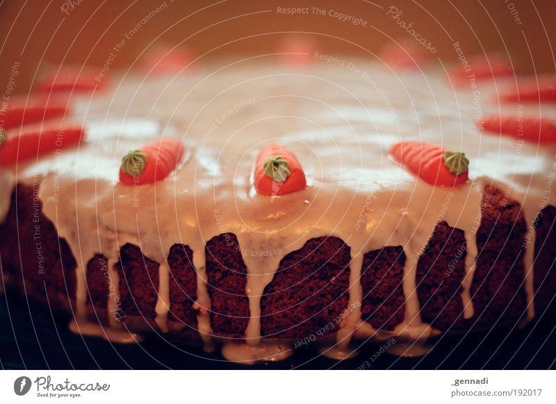 Good for your eyes weiß grün braun Lebensmittel Ernährung süß genießen Gemüse lecker Kuchen Abendessen Symmetrie füttern Möhre Mehl selbstgemacht