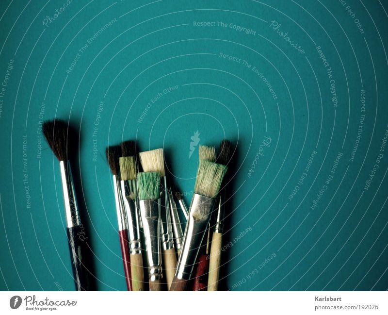 pinsel dir einen. tag. Freude Farbe Haare & Frisuren Stil Linie Kunst Freizeit & Hobby Design Studium Lifestyle Häusliches Leben Bildung streichen malen