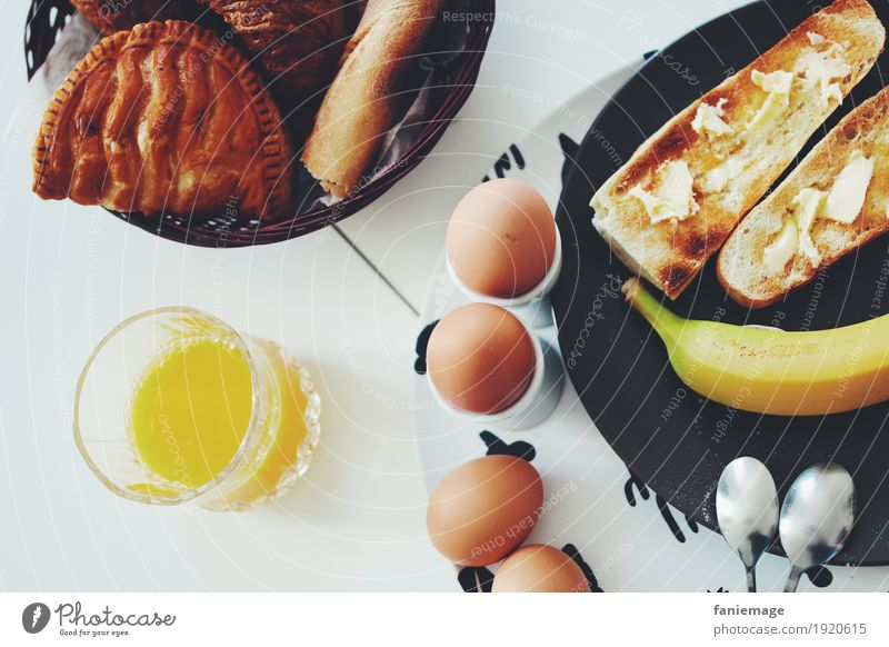 petit déj III Gesunde Ernährung Essen Gesundheit Lebensmittel Frucht Hilfsbereitschaft Getränk trinken Frühstück Ei Teller Backwaren Vitamin Erfrischungsgetränk