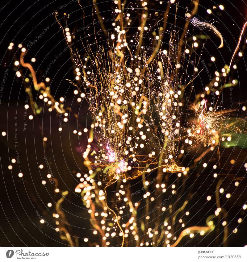 feierlaune   päng! Freude Feste & Feiern Luft fantastisch Stern Feuer Urelemente Feuerwerk Lichtspiel Jubiläum Nachthimmel