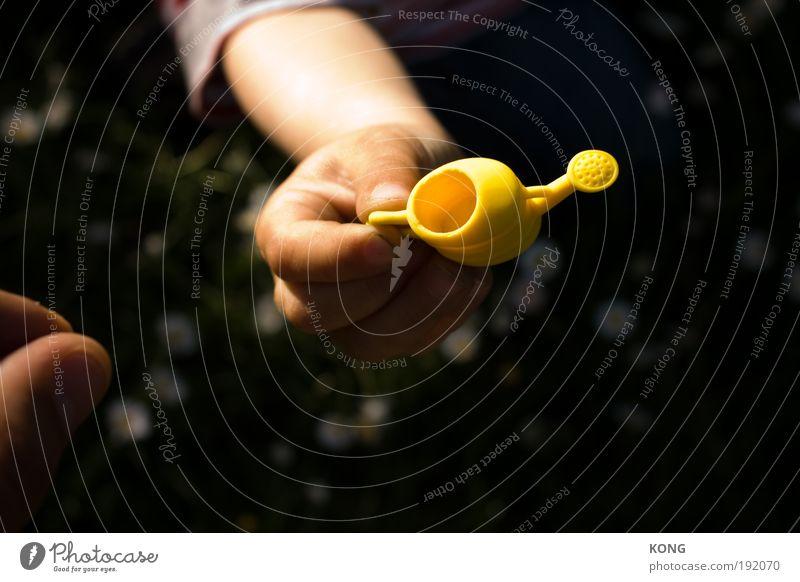 mehr frühling wagen Kind Gartenarbeit Kannen Gießkanne Hand Pflanze Wasser Sommer Blühend frisch klein gelb Fröhlichkeit Zufriedenheit Frühlingsgefühle fleißig