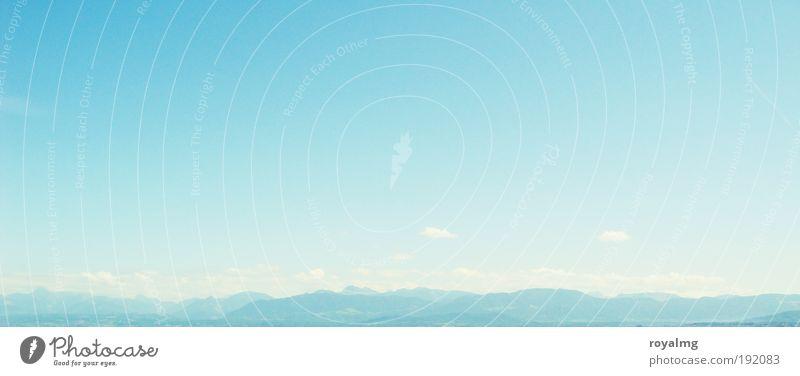 Genfer See Natur Himmel weiß blau Sommer Erholung Landschaft Zufriedenheit Horizont Alpen genießen Wohlgefühl
