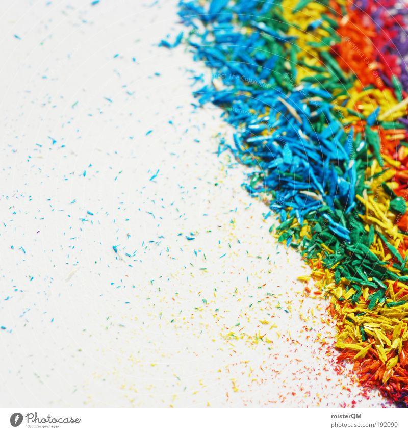 Let's colour the World. Kunst ästhetisch Schreibstift Spitze Farbstoff mehrfarbig regenbogenfarben Regenbogen Kreativität Idee gelb rot blau viele Partikel