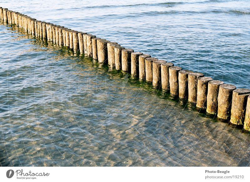 Abend-See Meer Buhne Wellen Strand Abendsonne Abenddämmerung harmonisch Ferien & Urlaub & Reisen Zingst Ostsee Baltic Sea Wasser Sand weiches Licht friedlich