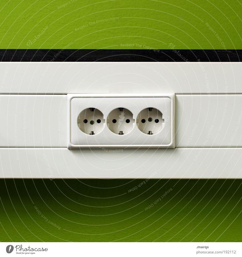 Grüner Strom Lifestyle elegant Stil Wirtschaft Energiewirtschaft Kapitalwirtschaft Steckdose Erneuerbare Energie Energiekrise Umwelt Streifen frisch trendy