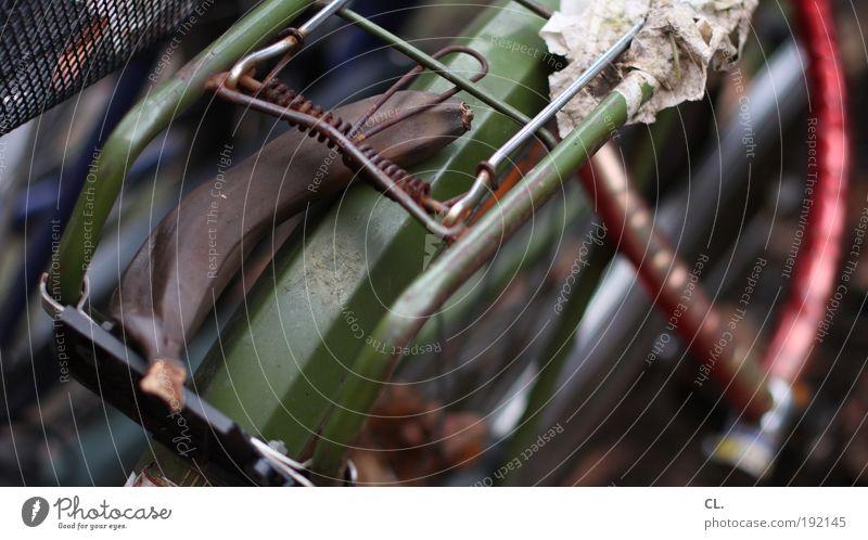 braun Lebensmittel Frucht Banane Ernährung Fahrrad Schloss Gepäckablage Metall Rost alt dehydrieren dreckig Ekel kaputt Appetit & Hunger Güterverkehr & Logistik