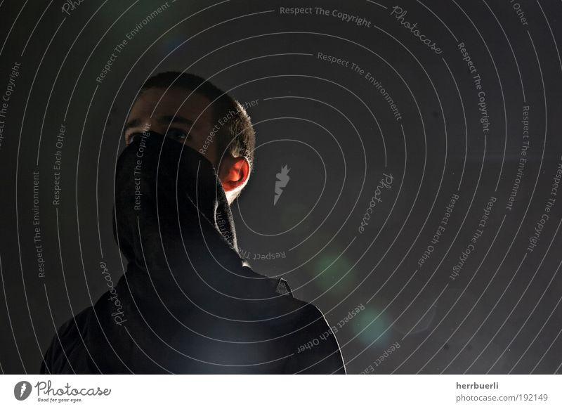 Terrorist Mensch Mann Jugendliche Gesicht schwarz Auge Haare & Frisuren Kopf Erwachsene maskulin stehen Ohr Maske Dieb anonym